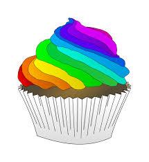Chocolate Rainbow Cupcake