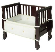 Side Crib Attached To Bed by Best Co Sleeper Crib U0026 Baby Bassinet Attaches To Bed U0026 Bedside