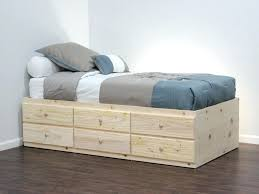 Twin Xl Platform Bed Frame With Drawers Ikea Diy Storage Plans