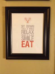 Stunning Black Wooden Quotes Frames As Custom Handmade Kitchen Wall Decor Hang On Neutral Painted Color Ideas