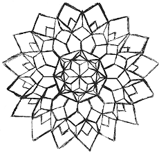 Marvelous Geometric Flower Coloring Pages With Designs And To Print