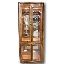 Pulaski Glass Panel Display Cabinet by New U0026 Used Curios For Sale Upscale Consignment