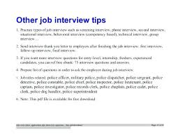 Sample Resume Pdf File Police Officer Position Security Cover In