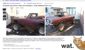 More Craigslist Gold... A 'custom' Datsun 2000 : Autos