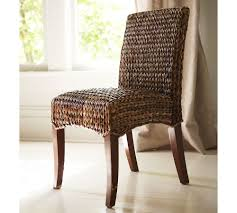 Pottery Barn Seagrass Club Chair by Decorating Classic Seagrass Dining Chairs In Tan With Brown Legs