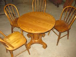 100 Oak Pedestal Table And Chairs Childs Set For Sale Online Auctions