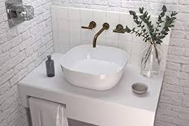 bath lav obi waschbecken auf waschtischplatte weiß glanz s