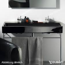 duravit vero washbasin black with 1 tap hole ungrounded with