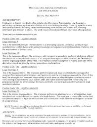 Resume For Secretary Position Medical