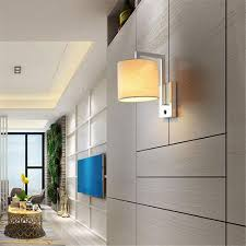 modern bedside wall ls fabric lshade led wall lighting store