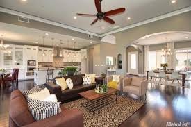 Transitional Living Room Leather Sofa by Living Room With Carpet U0026 Ceiling Fan In Granite Bay Ca Zillow