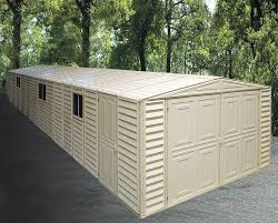 Metal Storage Sheds Amazon by Amazon Com Duramax 01514 Vinyl Garage Shed With Foundation And