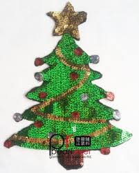 Christmas Tree Sequin Embroidery Patches Sequins Of