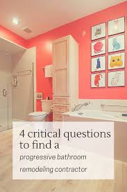 4 critical questions to choose a progressive bathroom remodeling