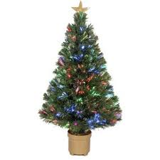 Fiber Optic 2 8 Green Artificial Christmas Tree With LED Muticolor Light