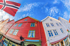 100 Houses In Norway Bergen With Colorful Houses In
