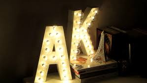 DIY Room Decor Letter Marquee Lights