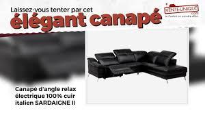 canape angle cuir relax electrique canapé d angle relax électrique sardaigne ii en 100 cuir