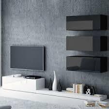 details zu wohnwand jupiter iii wohnzimmer set schwarz weiß hochglanz schrankwand lowboard