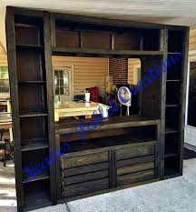Tv Stands RECYCLED WOOD PALLET This Custom Built Entertainment Center Is 90 Tall X100 Wide