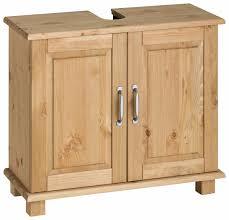 home affaire waschbeckenunterschrank justas aus massivholz