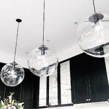 stylish clear glass globe pendant light lighting ideas for modern
