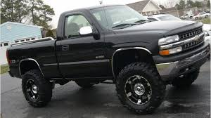 100 Souped Up Trucks Big Black Jacked Chevy YouTube