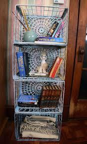 Milk Crate Bookshelf