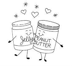 Peanut Butter And Jelly Jars Coloring Pages