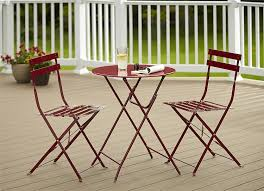 Cosco Folding Chairs And Table by Amazon Com Cosco 3 Piece Folding Bistro Style Patio Table And