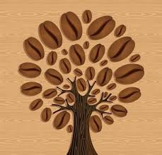 Coffee Tree Over Wood Seamless Pattern Vector File Layered For Easy Manipulation And Custom Coloring