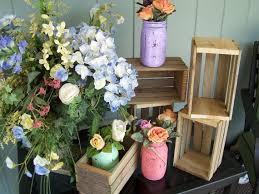 PICK ME SALE Wedding Centerpiece Wood Planter Box Rustic Crates Reception Decor Mason Jar Hol