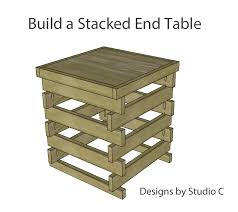 diy end table plans perfect for beginners u2013 designs by studio c
