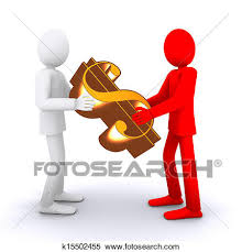 Stock Illustration people who taking money financ partners Fotosearch Search Clipart