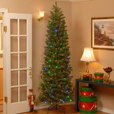 Downswept Slim Christmas Tree by The Holiday Aisle Downswept Douglas 7 5 U0027 Green Fir Artificial