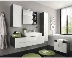 badmöbelset 4 teilig 140 cm inkl waschtisch hängeschrank und spiegel weiß hochglanz anthrazit
