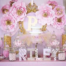 Pink White And Gold Birthday Decorations by Best 25 Princess Baby Showers Ideas On Pinterest Baby Princess