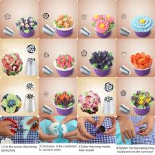 Cakes Decorated With Russian Tips by Amazon Com Sasrl Russian Piping Tips For Cupcakes Decoration 23