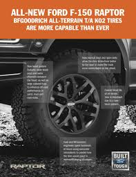 F-150 Raptor Shod With All-new BFGoodrich Tires – WHEELS.ca Bfgoodrich Ta K02 All Terrain Grizzly Trucks Lvadosierracom Best All Terrain Tires Wheelstires Page 3 Pirelli Scorpion Plus Tires Passenger Truck Winter Tire Review Allterrain Ko2 Simply The Best 2 New Lt 265 70 16 Lre 10 Ply For Jeep Wrangler Highway Of Light Mud Reviews Bcca 4x4 Tyres 24575r16 31x1050r15 For Offroad Treadwright Axiom 4waam Nittouckalltntilgrapplertires Tire Stickers Com Introduces Cross Control Allterrain Truck
