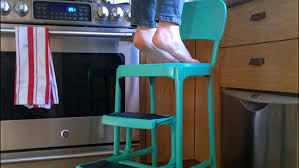 Cosco Retro Chair With Step Stool Yellow by Diy Upcycled Kitchen Step Stool U2014 Flock Of Broads