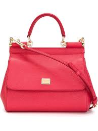dolce u0026 gabbana miss sicily small handbag in red lyst