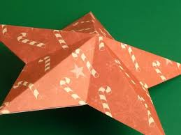 Making Christmas Decorations Completed Double Sided Paper Star