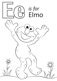Click To See Printable Version Of Letter E Is For Elmo Coloring Page