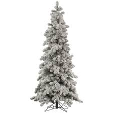 Slim White Flocked Christmas Tree by Slim White Christmas Trees Christmas Lights Decoration