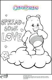 Care Bear Coloring Pages Online Mask To Print Team Colors Care