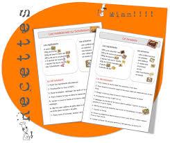 recettes de cuisines recettes de cuisine pour la classe bout de gomme