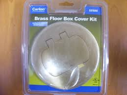 Hubbell Floor Box Cover Plates by Carlon E97brr Thomas U0026 Betts Floor Box Kit Brass Electrical