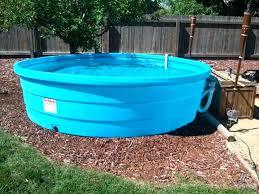 Blue Plastic Kiddie Pool Com Simple Hard Outdoor