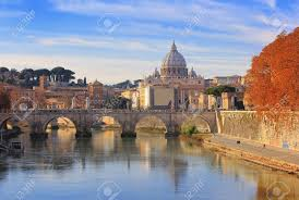 100 Angelos Landscape Autumn With View At Vatican City And Sant Stock