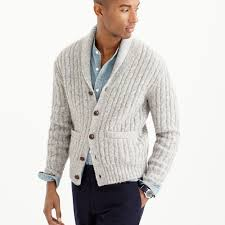 J.crew Wallace & Barnes Wool Cable Cardigan In Metallic For Men | Lyst Jcrew Wallace Barnes Pieced A2 Bomber Jacket In Green For Men Jcrew Mens Lweight Military Jacket Garment Cpo Black Lyst English Wool Turtleneck Sweater Sherpacollar Contrast August 2016 Style Guide Pleated Shorts Guides Shetland Cardigan Military Denim Workshirt Sussex Quilted Marled Cotton Anchorknit Japanese Blue Shortsleeve Indigo Sweatshirt